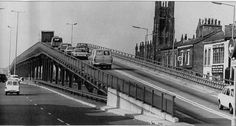 Chester Road flyover - remember this well.. used to be terrified of coming off the edge after the amount of stories about it happening to others!