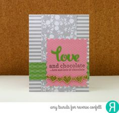 Reverse Confetti | January 8th release | Valentines Card by Amy Tsuruta | Lovey Words, Lovey Word coordinates, Stamped Note, Double Heart Garland