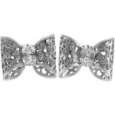 Pasquale Bruni Oh La' La' 18k Diamond Bow Stud Earrings ($3,848) ❤ liked on Polyvore featuring jewelry, earrings, bow jewelry, diamond jewellery, post earrings, diamond earrings and diamond earring jewelry