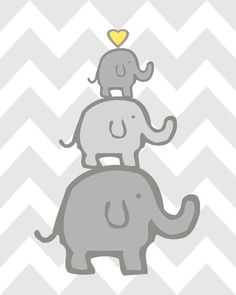 Elephant Nursery Decor Elephant Nursery Art Yellow and Grey Nursery Elephant Nursery Set of 4 Yellow Grey Elephant Nursery Decor, Nursery Prints, Wall Art Prints, Pink And Gray Nursery, Elephant Family, Grey Elephant, Baby Room, Vibrant Colors, Decoration