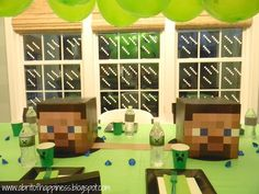 Don't forget to Minecraft your windows. | 31 DIY Birthday Party Ideas That Will Blow Your Minecraft