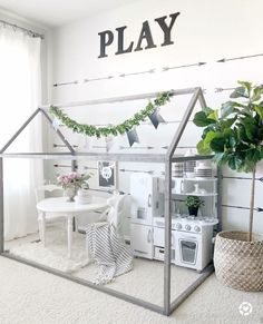 PLAYROOM DESIGN IDEAS I know January is all about organizing yourself and you home, and there is plenty of that going on. Since organization usually brings furniture rearranging and replacing, I t… kids playroom ideas 35 Playroom Design Ideas Playroom Design, Playroom Decor, Cheap Playroom Ideas, Daycare Design, Kid Decor, Baby Room Design, Nursery Decor, Room Ideias, Toddler Playroom