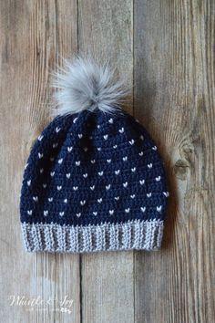 Crochet Snowfall Slouchy Hat