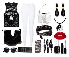 """Everyday // Ouija"" by jelly-bean202 ❤ liked on Polyvore featuring Killstar, New Look, Dr. Martens, Rebecca Minkoff, claire's, Monki, JFR, Chanel, Carolina Glamour Collection and Lime Crime"