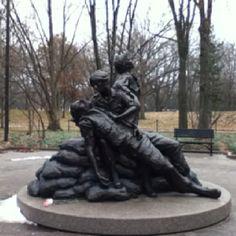 Vietnam war memorial dedicated to the nurses who served.