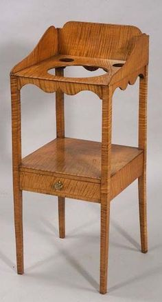 Tiger Maple Washstand c1810.  The BEST of all woods (in my humble opinion).  :)