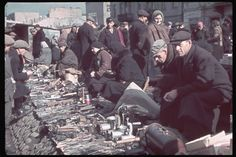 Flea market in post-invasion Warsaw Ghetto, 1940.