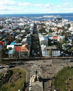 View from top of the church. #Reykjavik #iceland #hallgrimskirkja