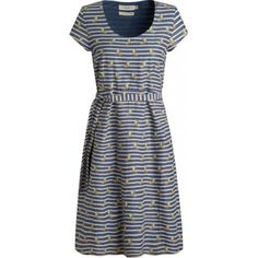 Seasalt Tregarthen Dress.  Smart summer dress, in the softest cotton and a special Seasalt stripe inspired by Cornwall. With flattering cap sleeves, scoop neck, fabric belt and falling just below the knee. Perfect for a tea party by the seaside.