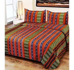 Buy Jaipuri Gold double bedsheet 100% cotton Floral print at best price in India. Get more deals, offers, discount on Bed Sheets at affordable price.