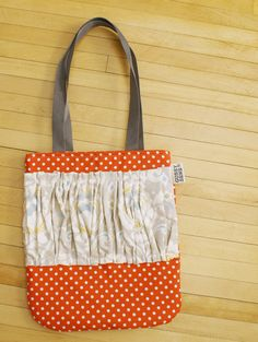 Victorian Tangerine Market Tote from Gussy Sews.  $59
