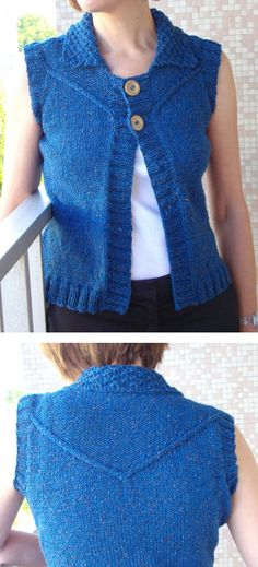 Free Easy Knit Vest Patterns Swing Vest Easy To Knit Vest Is