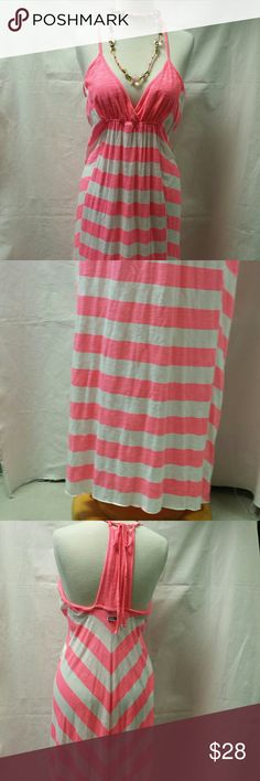 """Roxy dress Roxy new long sun dress. The front bust is lined. Ties in the back at neck. Measures approximately 62"""" long. Roxy Dresses Maxi"""