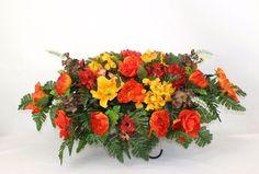 Beautiful Multi Flower Tombstone Cemetery Fall Autumn Flower Saddle #Crazyboutdeco