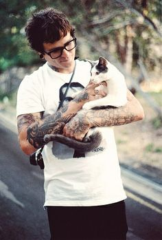 Joel and a kitty