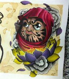 Japanese Tattoo Designs, Japanese Design, Japanese Art, Koi, Daruma Doll Tattoo, Samurai, Asian Tattoos, Oriental Tattoo, American Tattoos