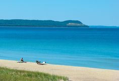One of my favorites! Good Harbor Bay Beach in Glen Arbor, MI, near Traverse City Traverse City Michigan, Lake Michigan, Michigan Vacations, Michigan Travel, Northern Michigan, Glen Arbor Michigan, Camping Places, Vacation Places, Dream Vacations