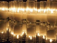 glass candle jars reflecting on glass table. Candle Shop, Glass Candle, Candle Jars, Candles, Candle Holders, Business Inspiration, Wedding Inspiration, Wedding Ideas, Bottles And Jars