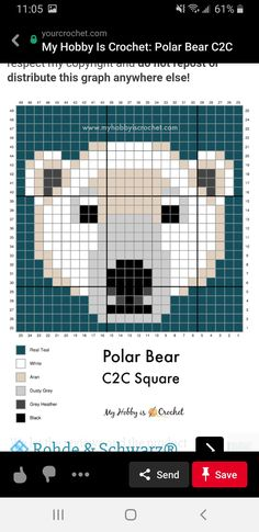 Crochet C2c Pattern, Crochet Square Patterns, Crochet Chart, Cross Stitching, Cross Stitch Embroidery, Embroidery Patterns, Cross Stitch Patterns, Plastic Canvas Stitches, Plastic Canvas Patterns