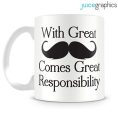 With great moustache comes great responsibility by JuiceGraphics