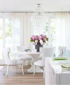 white dining room michael partenio