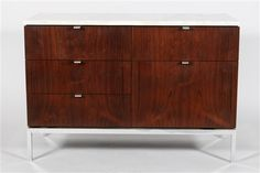 """Florence Knoll """"Lock On Top"""" Cabinet Price Realized: 3,400.00 USD"""