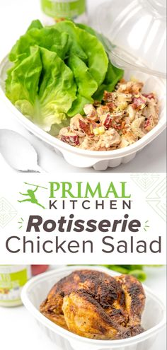 Rotisserie Chicken Salad, Chicken Salad Recipes, Healthy Salad Recipes, Lunch Recipes, Clean Eating Recipes, Healthy Eating, Cooking Recipes, Cook Dinner, Whole 30 Recipes