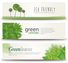 Eco Banners - Free Vector Graphic