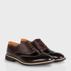 4ec28d42591f Paul Smith Men s Shoes - Black And Brown Leather Baer Brogues