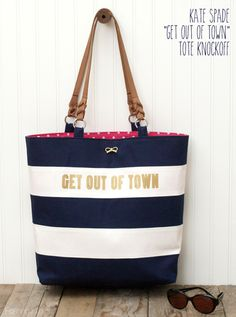 """Kate Spade """"Get Out of Town"""" Knockoff Tote"""