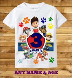 Paw Patrol Birthday Shirt Boys Paw Patrol by PreciousCreations7