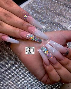 Installation of acrylic or gel nails - My Nails Bling Acrylic Nails, White Acrylic Nails, Aycrlic Nails, Glam Nails, Best Acrylic Nails, Bling Nails, Acrylic Nail Designs, Stiletto Nails, Coffin Nails