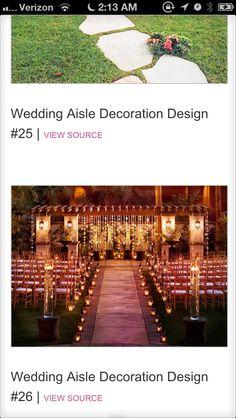 Wedding decor idea - I like the lanterns down the aisle!