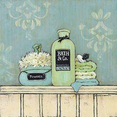 Shower Gel by Diane Knowles art print Vintage Labels, Vintage Ephemera, Vintage Cards, Vintage Postcards, Vintage Images, Decoupage Vintage, Decoupage Paper, Bathroom Prints, Bathroom Art