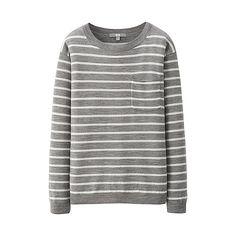 WOMEN Extra Fine Merino Striped Sweater