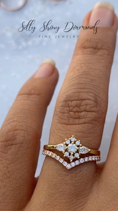 Women Diamond Bands Set Rose Gold Chevron Ring Half Eternity Band V Shaped Band Bridal Ring Set Stacking Wedding Band Set Promise - Fine Jewelry Ideas Gold Rings Jewelry, Fine Jewelry, Iris, Gold Ring Designs, Chevron Ring, Unique Earrings, Diamond Bands, Necklace Designs, Diamond Engagement Rings