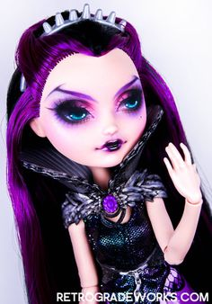 Custom Ever After High Raven Queen Doll Repaint by Retrograde Works