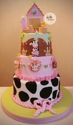 Farm Birthday Cakes, 2nd Birthday Party For Girl, Farm Animal Birthday, Cowgirl Birthday, Princess Birthday, Birthday Banners, Birthday Invitations, Farm Cake, Party Cakes