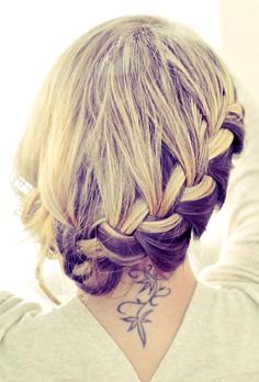 Love this.... Purple & blonde... Wish my hair was longer