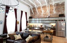 Living - eclectic - living room - san francisco - Architect Mason Kirby Inc.  Love the Mason Jar chandelier :-)