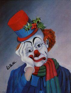 Christmas Again, The Fine Art of Red Skelton Gruseliger Clown, Cute Clown, Circus Clown, Creepy Clown, Red Skelton Paintings, Vintage Clown, Vintage Carnival, Vintage Halloween, Clown Paintings