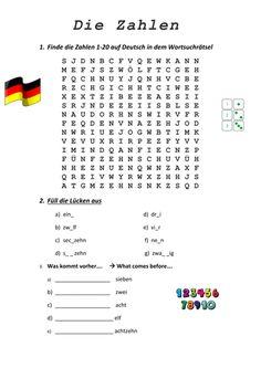 image (354×500) Spelling Worksheets, Free Kindergarten Worksheets, Number Worksheets, Alphabet Worksheets, Worksheets For Kids, Learning Numbers, Writing Numbers, Learn German Language, New Thought