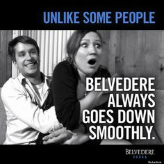 """Belvedere Vodka outrages with an ad on its Facebook page saying, """"Unlike some people, Belvedere always goes down smoothly."""" People outraged at rape implications."""