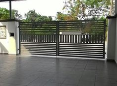 Straightforward volunteered outdoor porch design Get Started House Main Gates Design, Fence Gate Design, Front Gate Design, Steel Gate Design, Modern Fence Design, House Front Gate, House With Porch, Balcony Grill Design, Porch Tile