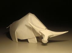 Wet Fold Origami Technique Gives Wavy Personality to Paper Animals by Artist Hoang Tien Quyet