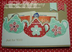 Kaarten / Cards by Renata van Miltenburg. Papertrey Ink - Tea for Two, Stampin' Up - Petite Petals