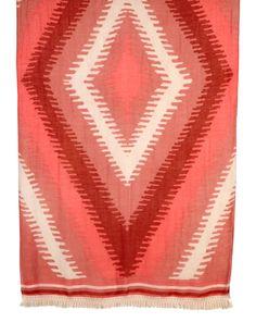 Coral Multi Majorca Wearable Art Fringe Scarf