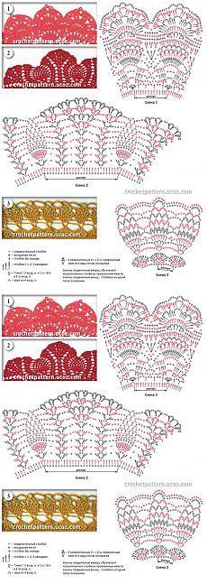 Patrones flecos para la decoración (ganchillo).