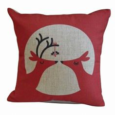 Christmas Deer Gifts Pattern Cotton Linen Throw Pillow Cushion Cover Car Home Sofa Christmas Cushion Covers, Christmas Cushions, Christmas Pillow, Merry Christmas Santa, Christmas Deer, Cabin Christmas, Christmas Stuff, Christmas Holidays, Christmas Gifts
