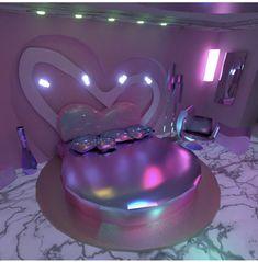 #purple #heart #marble #décor #trend Aesthetic Room Decor, Neon Room, Purple Rooms, Dreams Beds, Luxurious Bedrooms, Luxury Bedrooms, Teen Bedroom, Modern Bedroom, Bedroom Decor